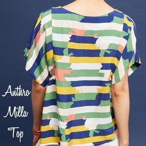 🆕 NWOT Anthro Maeve Milla Printed Top - Size XL